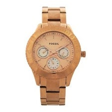 Fossil Es2859p Stella Multifunction Rose-Tone Stainless Steel Watch Watch For Women