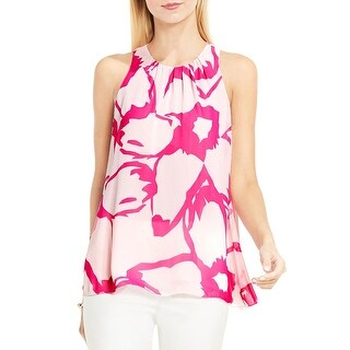 Vince Camuto Womens Blouse Floral Print Sleeveless