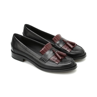 Link to Tod's Women's Leather Fringe Detailed Two-Tone Loafers Black Similar Items in Designer Shoes