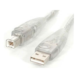 StarTech USB2HAB10T 10 ft Transparent USB2 Cable - A to B Retail