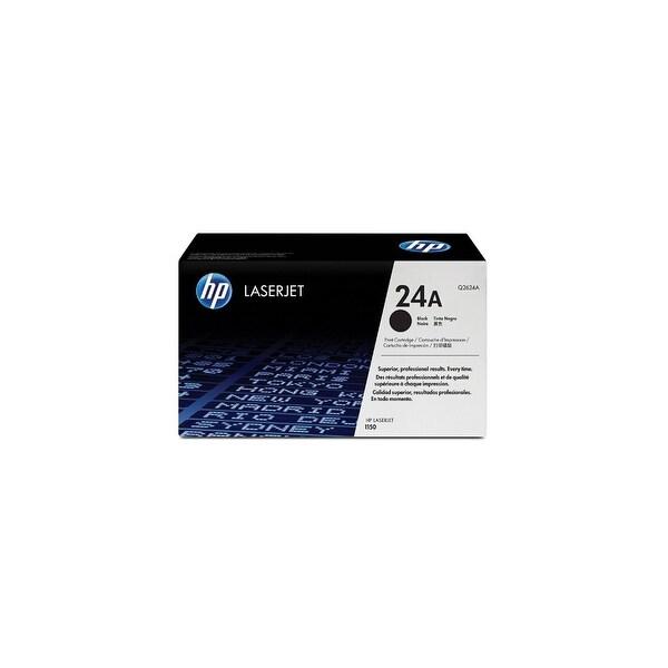 HP 24A Black Original LaserJet Toner Cartridge (Q2624A)(Single Pack)