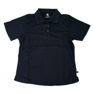PGA TOUR Women's Polo Shirt - Navy Solid - Medium