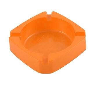 Unique Bargains Household Restaurant Plastic Smoking Cigarette Holder Ashtray Container Orange