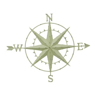 8 Point Compass Rose and Arrow Distressed Metal Wall Hanging 46 Inch (3 options available)