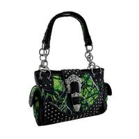 Moon Shine Camo Rhinestone Buckle Concealed Carry Handbag