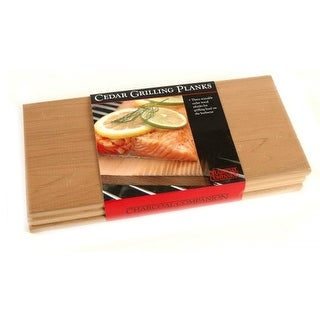 Charcoal Companion CC6021 Cedar Wood Grilling Planks, Set of 3