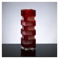 """Cyan Design 1824 15"""" Large Ruby Etched Vase"""