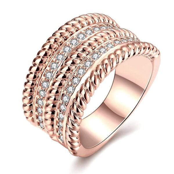 Rose Gold Trio- Layered Ring