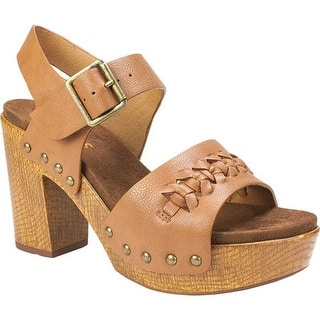 7bac2ba81cdef4 Quick View.  63.95. White Mountain Women s Altheda Heeled Sandal Cognac  Nappa Smooth Polyurethane