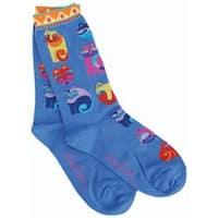 Feline Festival - Blue - Laurel Burch Socks
