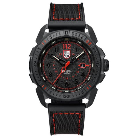 Luminox Men's XL.1002 Ice-SAR Arctic 46mm Carbonox Case Black Rubber & Fabric Strap Watch