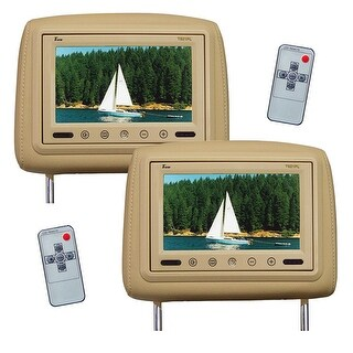 UEI T921PLTAN 9 in. Dual Tan Headrest Tft Lcd Monitors with Remote