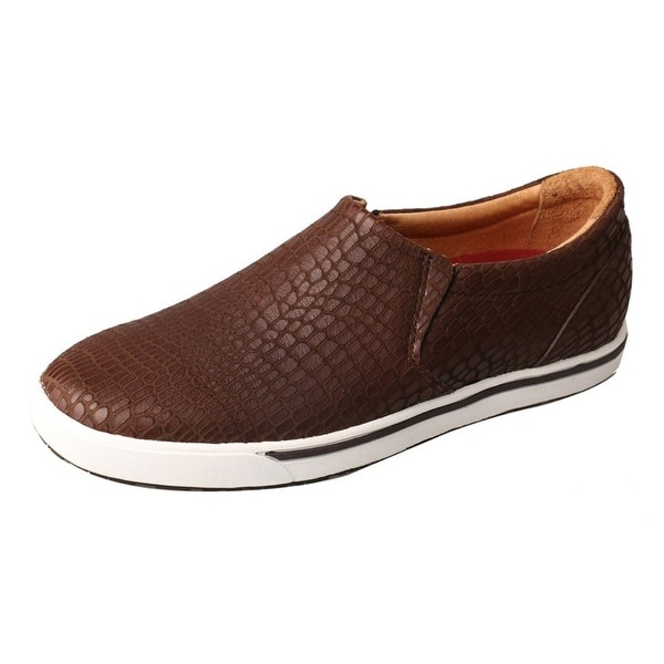 Twisted X Casual Shoes Womens Slip On Leather Print Brown