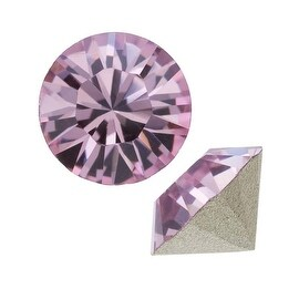 Swarovski Crystal, 1028 Xilion Round Stone Chatons pp24, 36 Pieces, Lt Amethyst