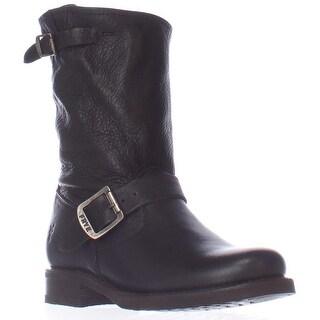 FRYE Veronica Short Western Mid-Calf Boots, Black