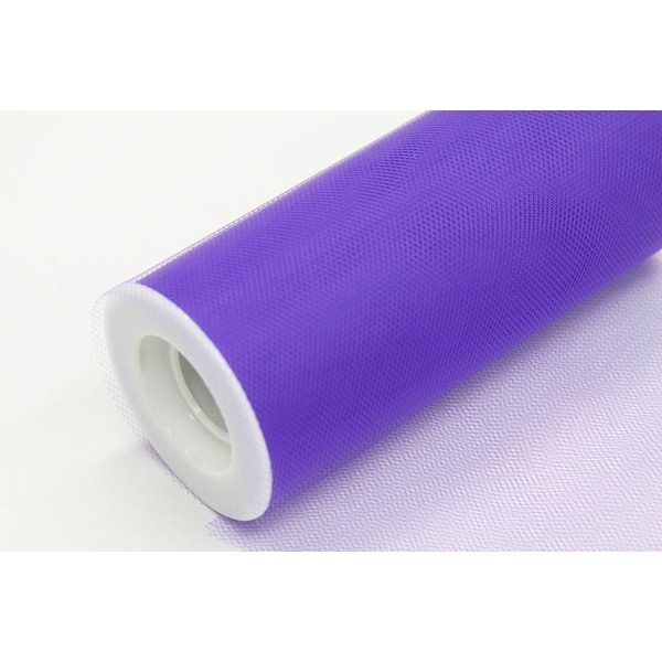 """12 Pieces, Tulle 18"""" Roll 100% Polyester Approx. 18"""" wide x 25 yards - Purple"""