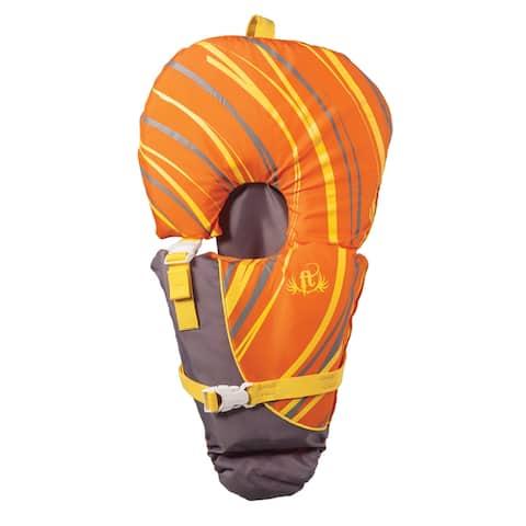 Full throttle infant baby-safe vest orange/grey