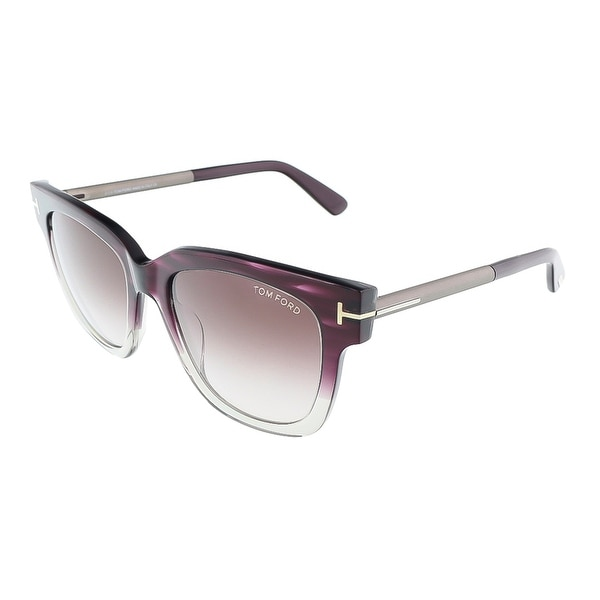 Tom Ford FT0436/S 83T TRACY Violet Transparent Square sunglasses - violet transparent - 53-18-140