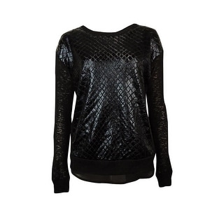 Bar III Women's Long-sleeve Embossed Sweater - s