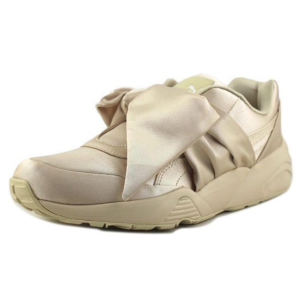 Puma Bow Sneaker Women Canvas Tan Fashion Sneakers