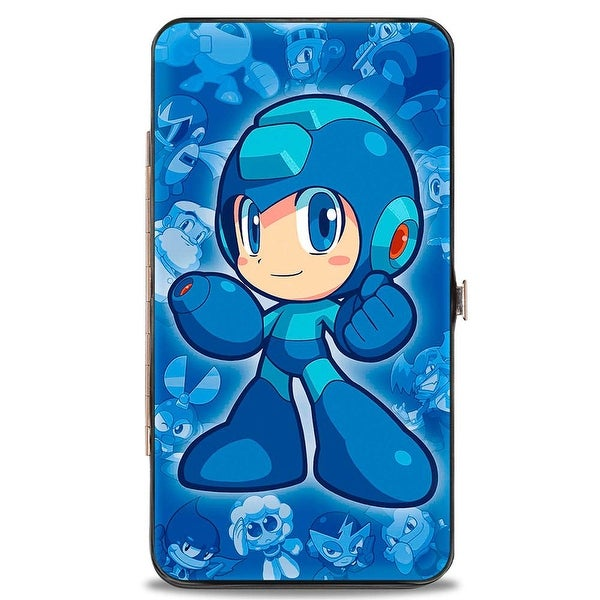 Chibi Megaman Chibi Characters Blues Hinged Wallet - One Size Fits most