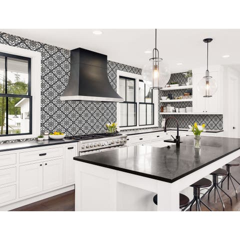 Seabrook Designs Lillian August Plumosa Tile Unpasted Wallpaper