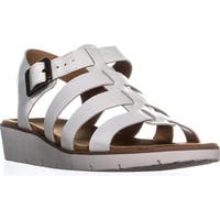 Naturalizer Donna Wedge Strappy Sandals, White - 9 w us