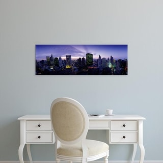 Easy Art Prints Panoramic Images's 'Skyscrapers, Chicago, Illinois, USA' Premium Canvas Art