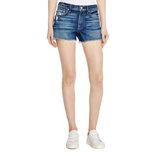 7 For All Mankind Womens Cutoff Shorts Denim Distressed