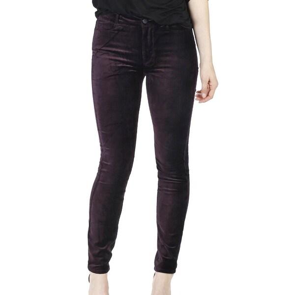 0a8f569d85 Shop Paige Purple Women's Size 24 Hoxton Velvet Ankle Skinny Jeans ...
