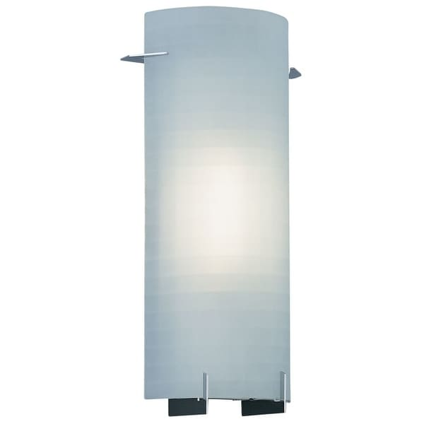 Designers Fountain 6041-CH 1 Light Wall Sconce with Etched Glass - Silver
