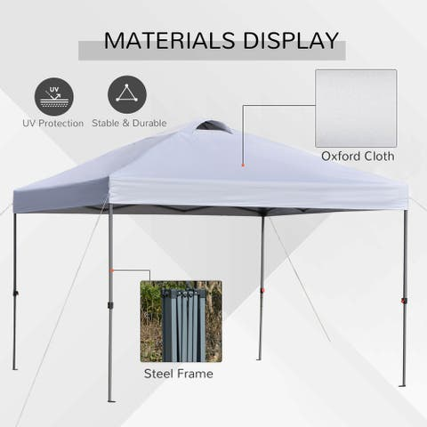 Outsunny 10' x 10' Outdoor Pop-Up Party Tent