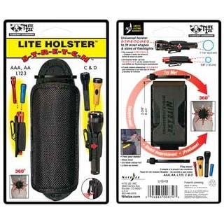 Nite Ize LHS-03 Flashlight Holster, Carded