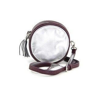 Shiraleah Laurie Round Women Faux Leather Messenger NWT - Silver