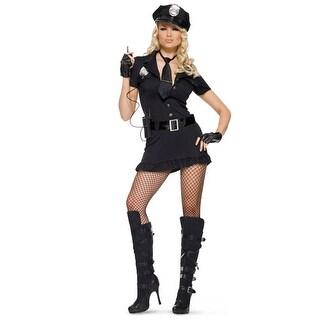 Womens Sexy Dirty Cop Uniform Halloween Costume