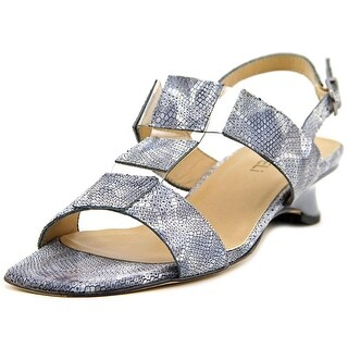 Vaneli Berdine Women W Open-Toe Leather Blue Slingback Sandal