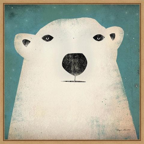 Polar Bear WOW by Ryan Fowler Framed Canvas Art