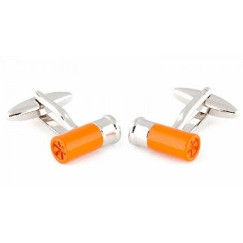 Shotgun Shell Gun Lover Nra Cufflinks Orange