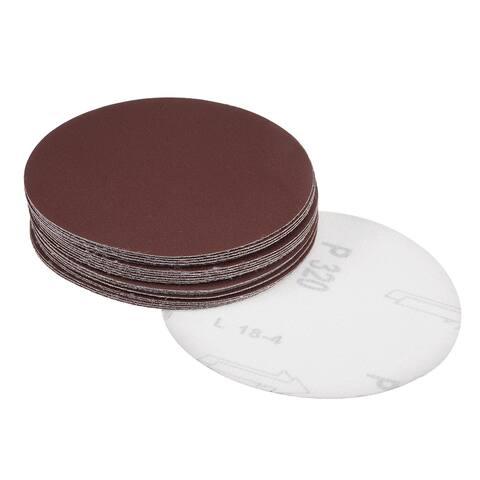 5-Inch Sanding Disc 320 Grits Aluminum Oxide Flocking Back Sandpapers 25 Pcs - 320 Grits