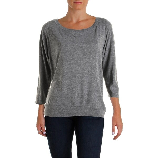 Nation LTD Womens Pullover Top Heathered Long Sleeves