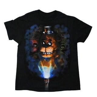 Five Nights at Freddy's Flashlight Youth Black T-Shirt