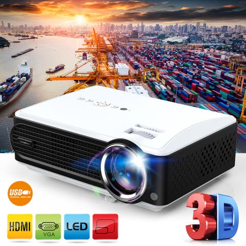 Excelvan P4 Multimedia Projector 2000:1 Contrast Ratio Support 1080P VGA HDTV USB Interfaces