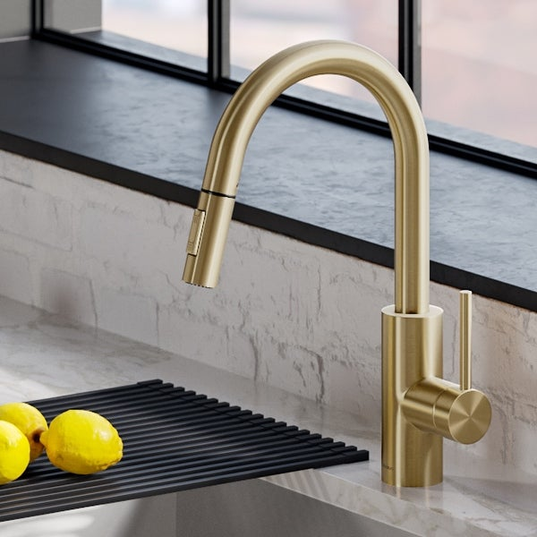 Kraus KPF-2620 Oletto 1-Handle 2-Function Pulldown Kitchen Faucet. Opens flyout.