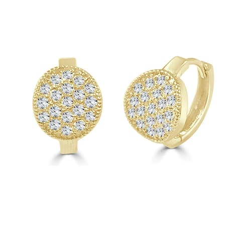 Diamond Earrings 14k Yellow Gold 5/8ct TDW by Joelle Collection