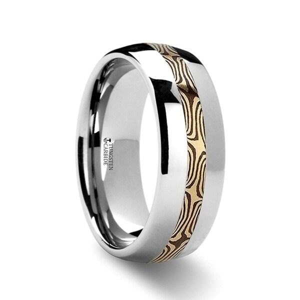 THORSTEN - SAMSON Mokume Inlaid Tungsten Carbide Ring