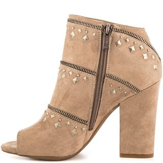 Jessica Simpson Womens Midara Peep Toe Ankle Fashion Boots