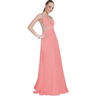 Terani Couture Embellished Prom Evening Dress