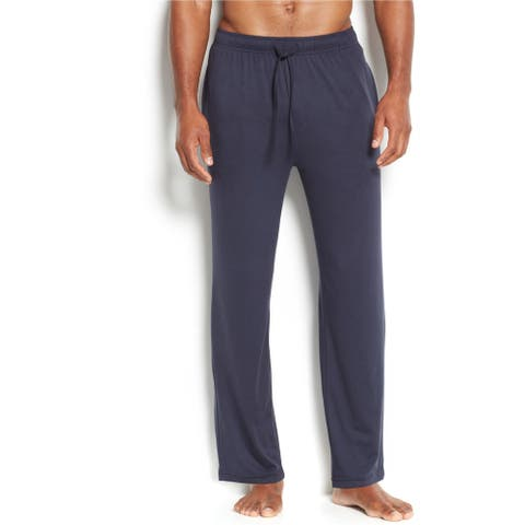 32 Degrees Mens Heather Pajama Lounge Pants, blue, Small