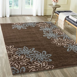 Link to Glamour Collection Floral Polypropylene Area Rug Similar Items in Transitional Rugs