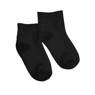 Hanes Boys Ankle ComfortBlend Assorted Black Socks 6-Pack